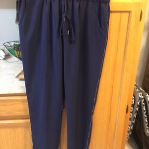 COLDWATER CREEK Navy Natural Fit Straight Leg Pant